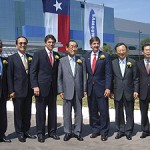 Will Wynn and Texas Governor Rick Perry join Samsung executives at the ribbon cutting of their new $5 billion manufacturing facility in Austin.