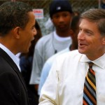 An early supporter of Barack Obama, Will Wynn chats with the Senator during his presidential campaign.