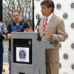 Will Wynn speaks at the kickoff announcement for the Health Alliance for Austin Musicians.