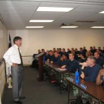Will Wynn lectures at his annual APD cadet class on 'community'.