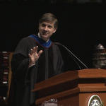 Will Wynn delivers the commencement address at Texas A&M.