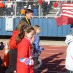 Will Wynn leads the ceremonial first lap at the annual MarathonKids kickoff event, attracting 72,000 K-5 students.