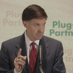 Will Wynn kicks off the national Plug-In Partners campaign at the National Press Club in Washington, D.C. on January 24, 2006.